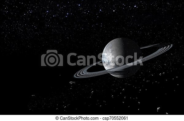 planets and galaxy science fiction stock image csp70552061