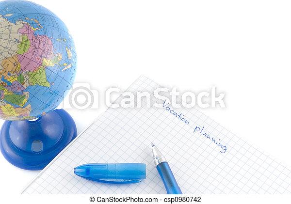 planificação, férias - csp0980742