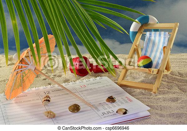 planificação, férias - csp6696946