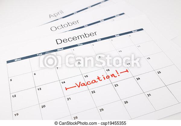 planificação, férias - csp19455355