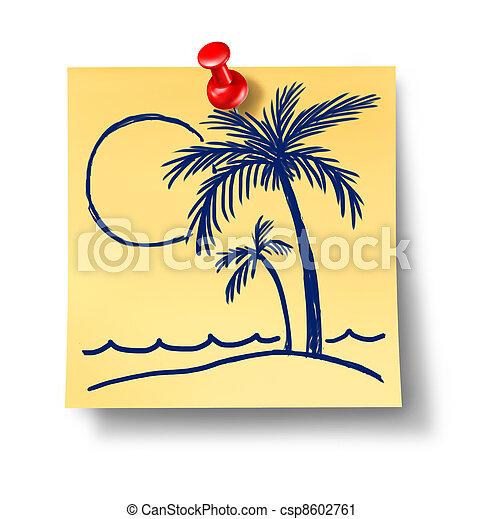 planificação, férias - csp8602761
