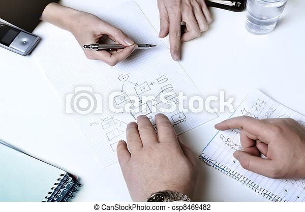 planificação, pessoas negócio - csp8469482