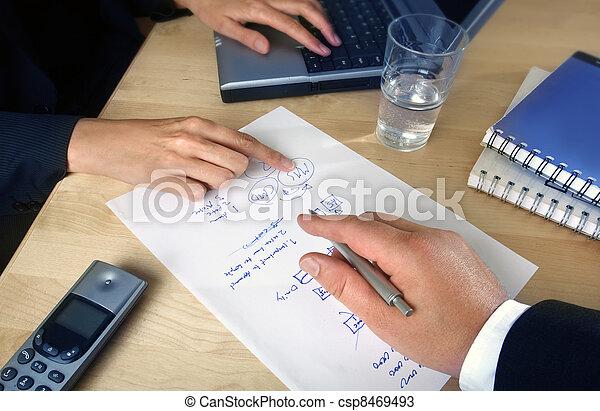 planificação, pessoas negócio - csp8469493