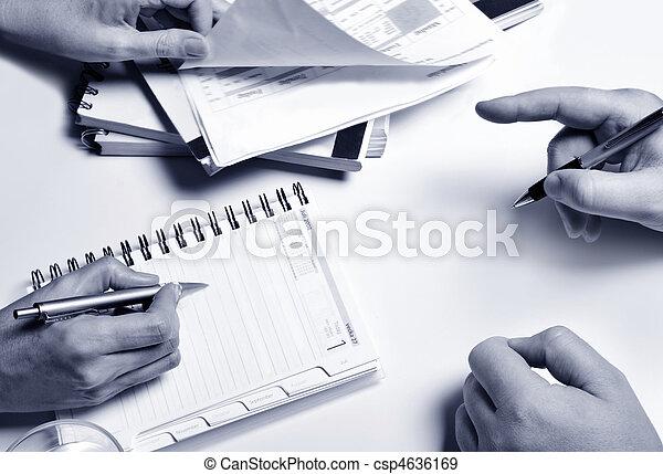 planificação, pessoas negócio - csp4636169