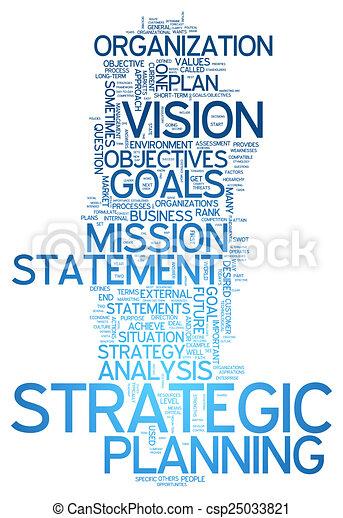 Planificación estratégica de nubes de palabras - csp25033821