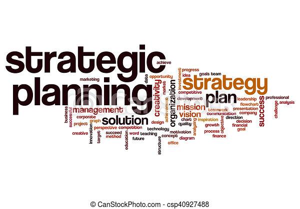 Una nube de planificación estratégica - csp40927488