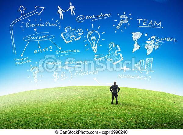 planification, concept, business - csp13996240
