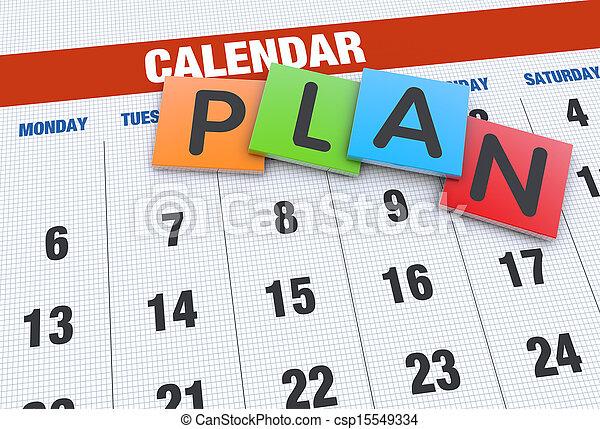 planification, concept, calendrier - csp15549334