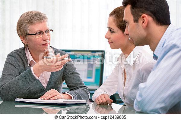 planification, financier, consultation - csp12439885