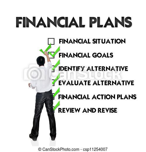 planification, financier - csp11254007