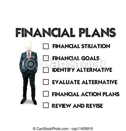 planification, financier - csp11409918