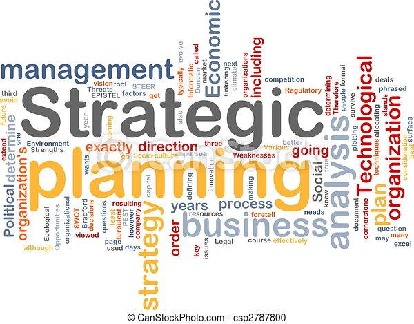 planification, mot, nuage, stratégique - csp2787800
