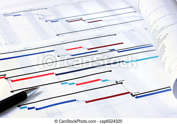 planification projet, documents - csp6524320