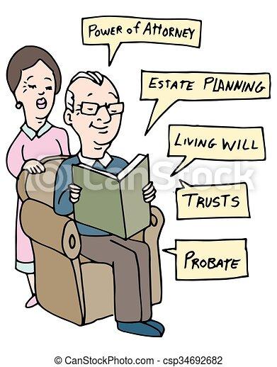 planification, recherche, propriété, aînés - csp34692682