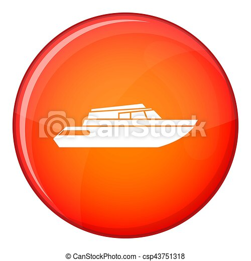 Planing powerboat icon, flat style - csp43751318