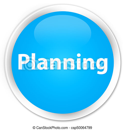 Planning premium cyan blue round button - csp50064799
