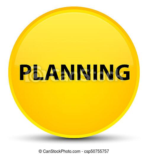 Planning special yellow round button - csp50755757