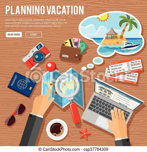 Planning Vacation Concept - csp37784309