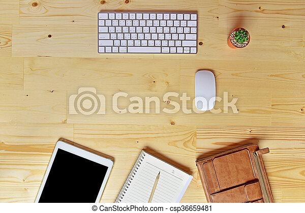 Un plano de accesorios de negocios - csp36659481
