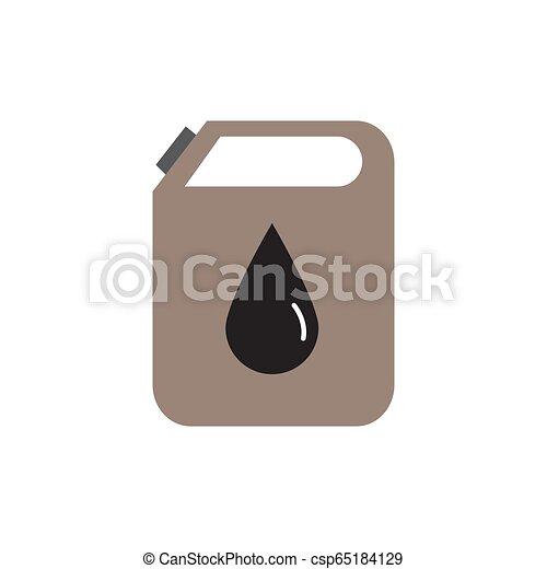 Petróleo puede colorear vector icono plano ilustración de diseño - csp65184129
