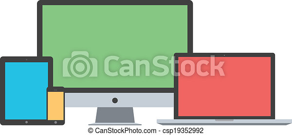plano, aislado, diseño, plano de fondo, dispositivo, blanco - csp19352992