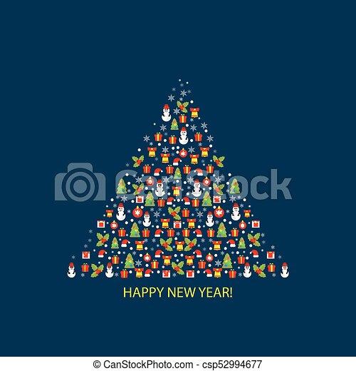 Feliz Navidad Y Feliz Año Nuevo Fondo De Diseño Para