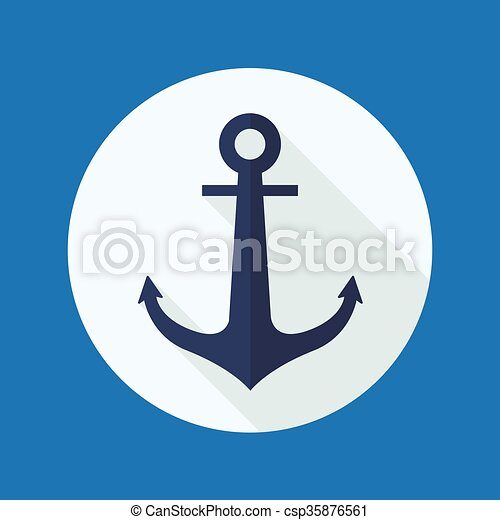 Anchor flat icono - csp35876561