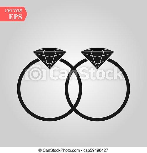 Icono vectorial Rings, diseño plano mejor icono vector - csp59498427