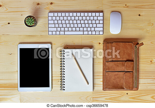 Un plano de accesorios de negocios - csp36659478