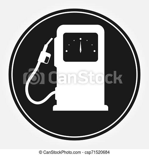 Columna para llenar coches con combustible. icono plano - csp71520684