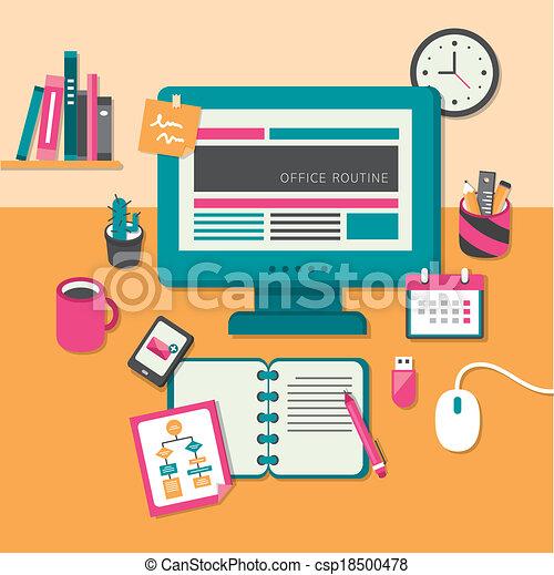 Plano concepto dise o oficina rutina plano concepto for Nociones basicas de oficina concepto