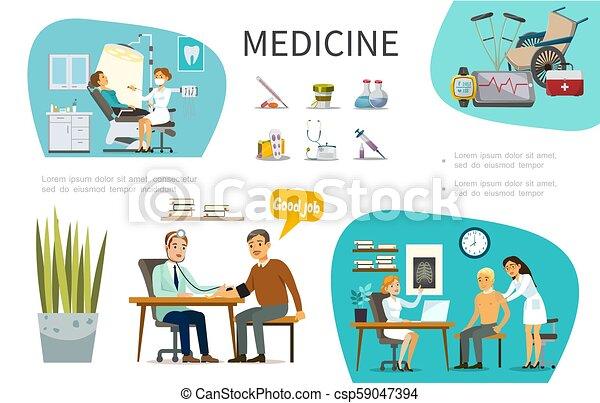 c501489e7 Plano, concepto médico, tratamiento. Plano, diferente, concepto ...
