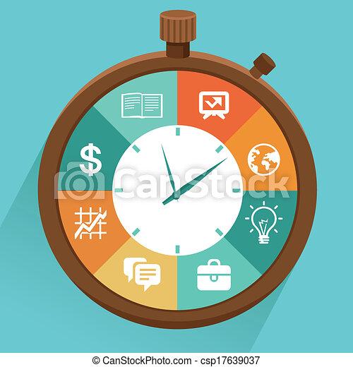 Concepto plano vector - manejo del tiempo - csp17639037