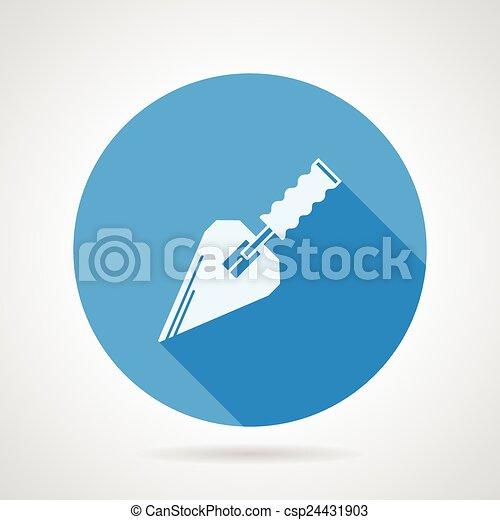 Icono vector plano para la pala de construcción - csp24431903