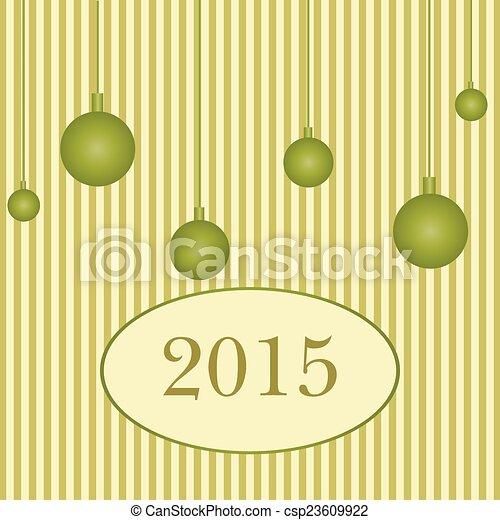 Feliz Año Nuevo 2015 antecedentes - csp23609922