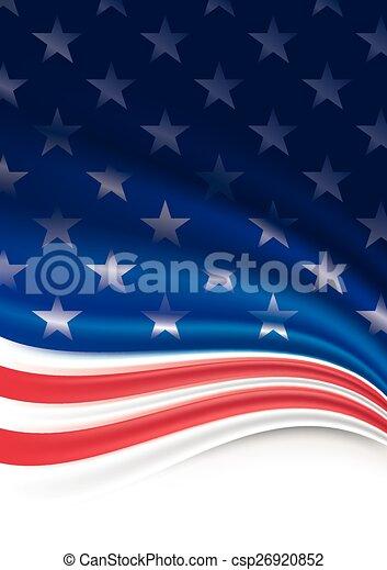 Fondo de bandera americana - csp26920852