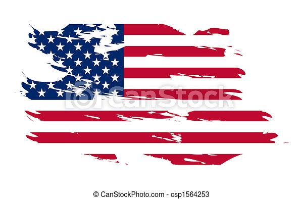 Historia de la bandera americana - csp1564253