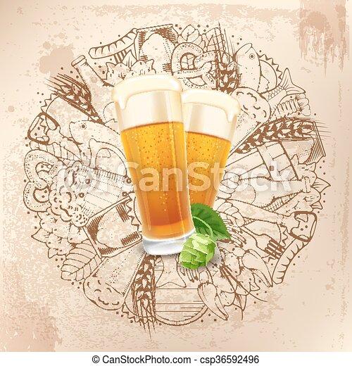 Trasfondo de cerveza - csp36592496