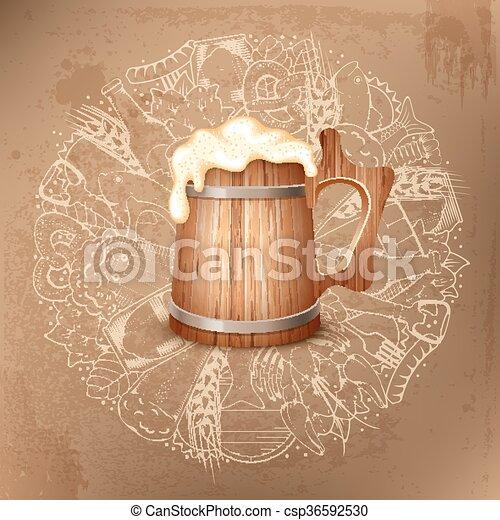Trasfondo de cerveza - csp36592530