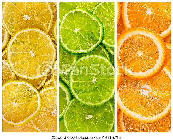 Antecedentes con fruta cítrica - csp14115718
