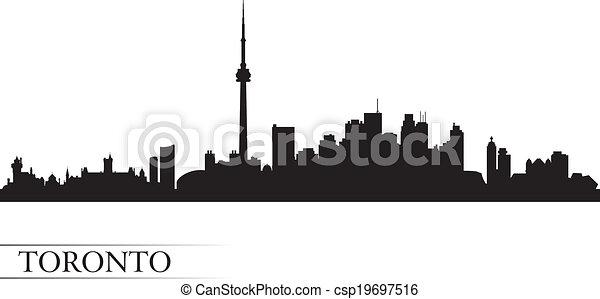 Silueta de fondo de la ciudad de Toronto - csp19697516