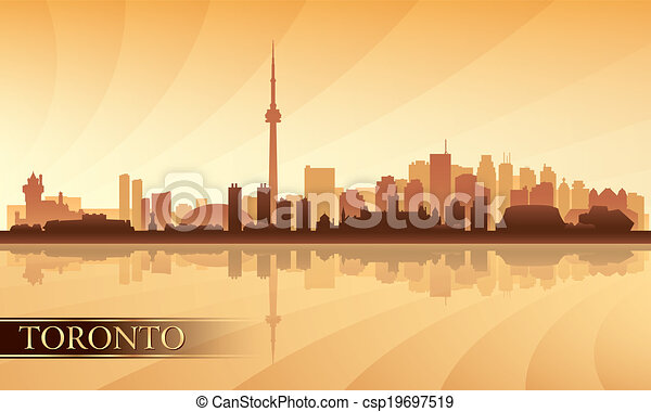 Silueta de fondo de la ciudad de Toronto - csp19697519