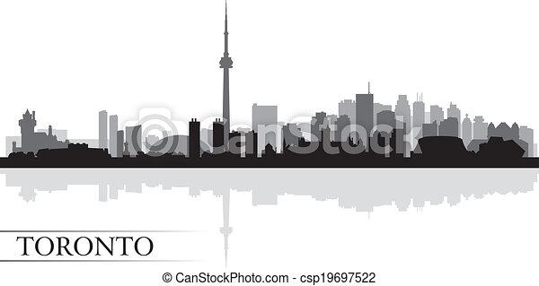 Silueta de fondo de la ciudad de Toronto - csp19697522