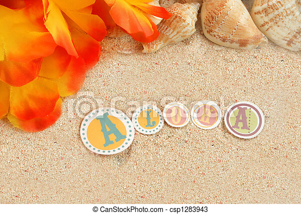 Un fondo de playa hawaiano - csp1283943