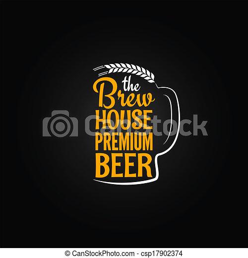 Botella de cerveza diseño de casas de cristal fondo menú - csp17902374