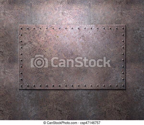 Textura metálica con remaches de fondo - csp47146757