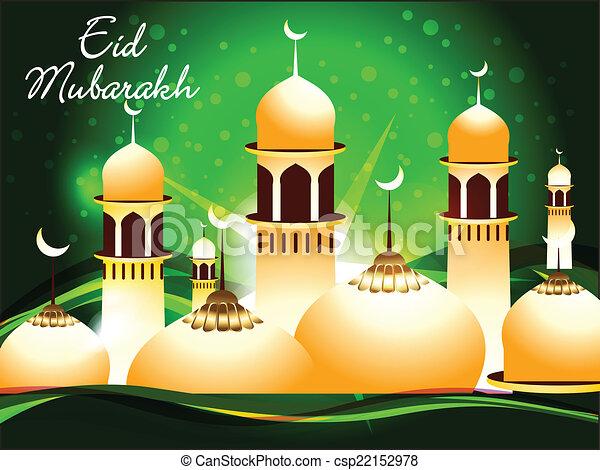 Trasfondo abstracto eid mubarakh - csp22152978