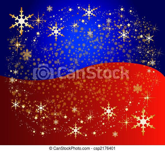 Un fondo navideño de color con estrellas - csp2176401