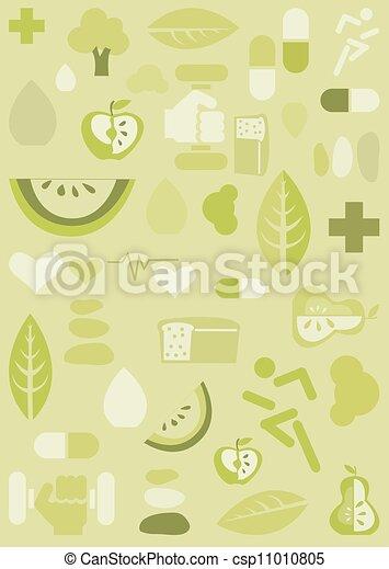 Fondo de salud, ilustración - csp11010805