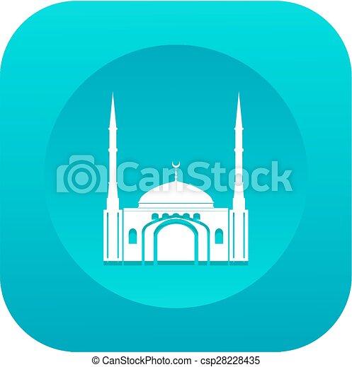 Diseño plano de la mezquita - csp28228435